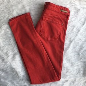 Pilcro & the Letterpress red skinny jeans